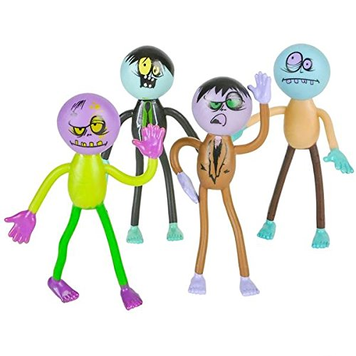 Halloween Bendable Zombie Party Supplies Toys, Brings Your Party to Life! 1 Dozen Fun Bendable Toys for Trick-Or-Treaters by (Non Scary Halloween Treats)