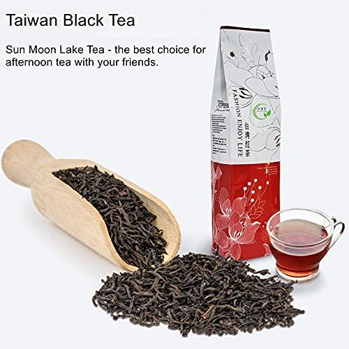 Yan Hou Tang Taiwan Black Tea Loose Leaf Leaves Sun Moon Lake Red Jade Caffeine 75g 30 Servings - Nature High Mountain Unique Honey Flavor Sachet English Breakfast Tea Half Fermented