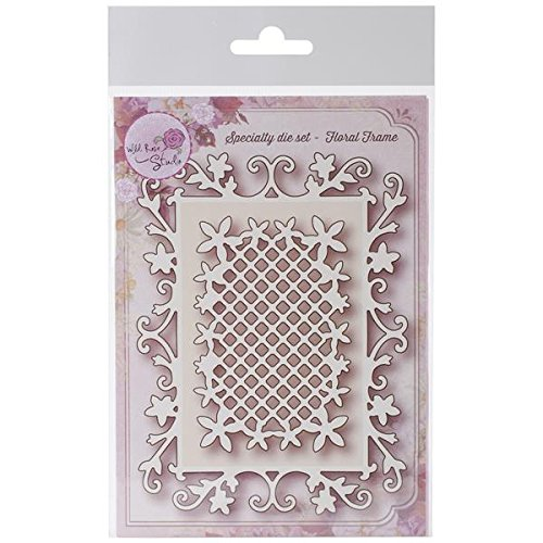 Wild Rose Studio Specialty Dies, 4 by 5-Inch and 2.25 by 3.25-Inch, Floral Frames by Wild Rose Studio