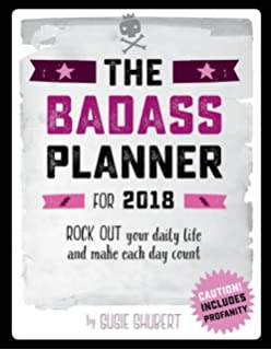 the badass 2018 planner calendar