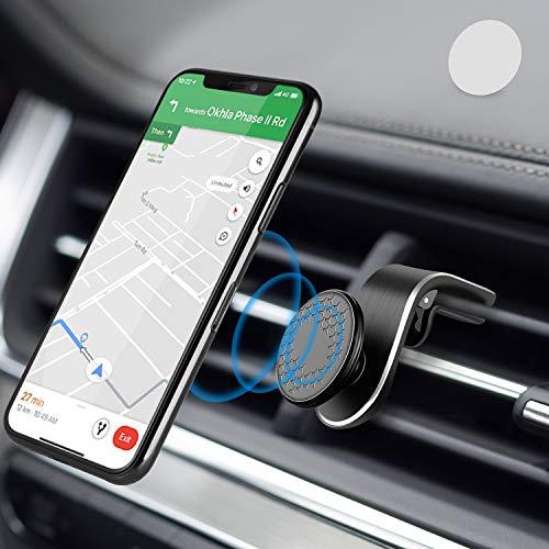 🥇 Modohe Soporte Móvil Coche con Ventilación de Aire Magnético Soporte Teléfono Coche Imán con 360 Grados Rotación Adecuado para Xiaomi iPhone Moto G6 Samsung S10 Huawei P40 Pro Xperia GPS