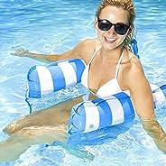 Water Hammock Inflatable Pool Float, Multi-Purpose Pool Hammock (Saddle, Lounge Chair, Hammock, Drifter) Pool
