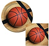 Basketball Sports Fanatic Luncheon Napkins & Plates Party Kit for 8