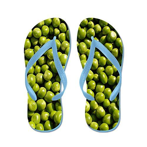 Cafepress Ärtor, Grönsaker - Flip Flops, Roliga Rem Sandaler, Strand Sandaler Caribbean Blue