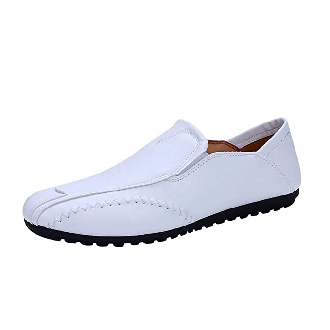 b68684ae61f6c DENER Men Flats Loafers, Leather Slip on Flexible Wide Width ...