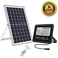 Amazon.com deals on Bestqool Solar Flood Lights Outdoor LED Dusk to Dawn 1500 Lumens