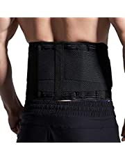 HEERTEE Back Brace Support Belt - Lower Back Pain Relief for Herniated Disc, Sciatica, and Scoliosis for Men & Women - Includes Removable Lumbar Pad