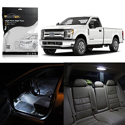 Partsam 8pcs White Map Dome Licence Plate LED Light Package Kit for Ford Super Duty F-250 F-350 F-450 2005 & Up