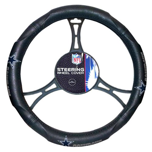Officially Licensed NFL Dallas Cowboys Steering Wheel Cover (Mens Accessories Cowboys Dallas)