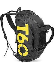 تي 60 حقيبة دفل قطن لل للجنسين,اسود - حقائب دفل للنشاطات الرياضية والخارجية
