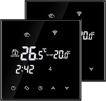 Beok TGT70WIFI-EP Termostato Digital Programable Para Calefacci/ón El/éctrica Debajo Del Piso Control De La Temperatura De La Habitaci/ón Con Tel/éfono Inteligente Negro.16A,230.00 V