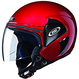 Studds CUB Open Face Helmet (Cherry Red, L)