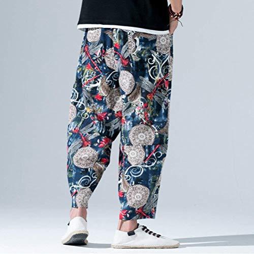Alternative Harem Vestiti Con Hippie Aladdin Bloomers Pantaloni Blau Essenziale Ladies Casual Elastic Men Pants Sarouel Baggy Super rwxq4YHtr