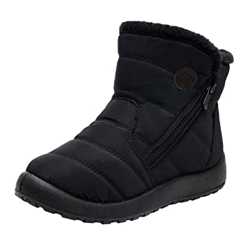 Amazon.com: PerfectCOCO Botas de nieve para mujer, botas de ...