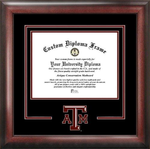 Campus Images NCAA Texas A&M Aggies Spirit Diploma Frame, Mahogany