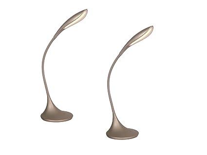 Lot de lampe de bureau led flexible avec variateur niveaux