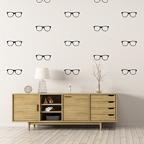0 Pairs of Glasses Spectacles Geek Chic Wall Stickers Wall Pattern Decals Optometrist Eyeglasses Vision Looking Glass ()