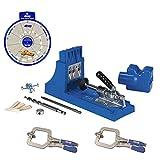 Kreg Jig K4 Pocket Hole System, (2) KHC-PREMIUM Face Clamps, Screw Selector