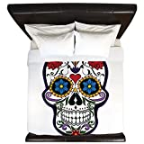 King Duvet Cover Floral Sugar Skull Day of the Dead