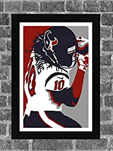 Houston Texans DeAndre Hopkins Portrait Sports Print Art 11x17