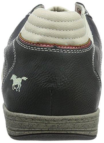 Mustang 4007-317-95, Zapatillas para Hombre Negro (95 schwarz/rot)