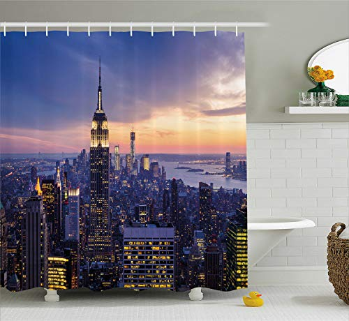 Ambesonne Wide Tap Shower Curtain by, New York