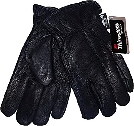 DEERSKIN LEATHER 100 GRAM THINSULATE WINTER LINED GLOVES (M) GROUPEBBH