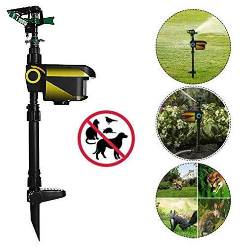 (thebestshop99 Solar Motion Activated Water Animal Repeller Garden Deterrent Repellent Sprinkler Scarecrow Black)