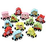 Gbell Kids Toddler Colorful Mini Wooden Train Set - 13Pcs Animal Learning Educational Toy Gifts Toddlers Girls Boys Kids Over 3 Year Old (Multicolor)