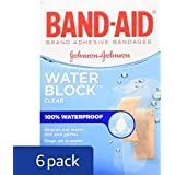 Band-Aid Brand Water Block Plus Adhesive Bandages, Waterproof In Assorted Sizes, 30 Count, Pack of 6