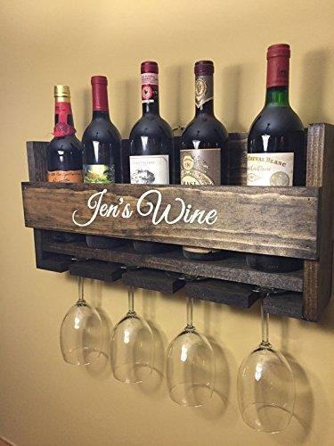 Amazon.com: Wine Rack Custom Personalized Engraved Carved Custom ...