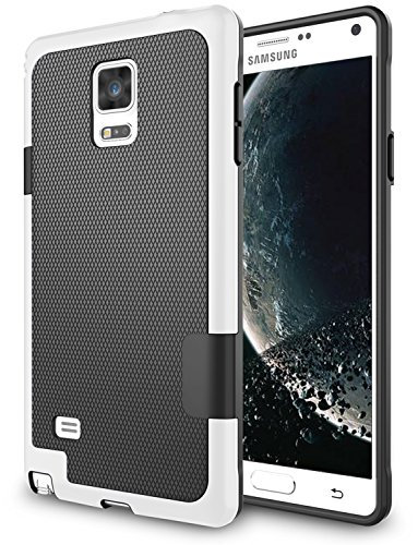 Galaxy Note 4 Case, Zectoo Hybrid Impact Slim Rugged Defender Protective Bumper Cute Women Girls Flexible Enhanced Non-slip Grip Case Soft Armor Cover Shell For Samsung Galaxy Note 4 IV SM-N910H Black