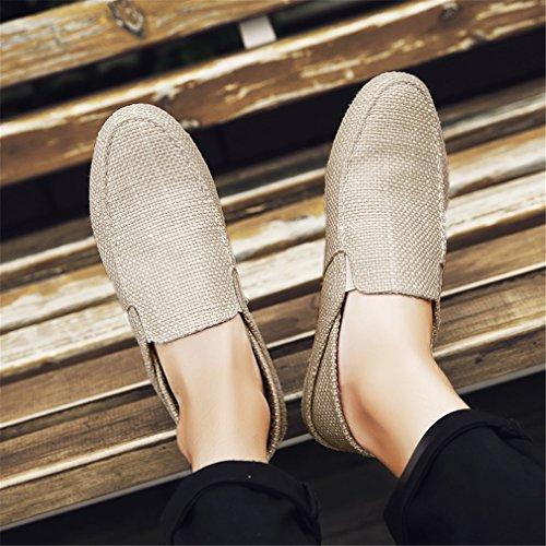 Shoes Lazy Mocasines Beige Hombre Alpargatas Casual Ultralight Beige Shoes Shoes Men Boat Hemp Transpirable Summer Flats TqPBEOwqU