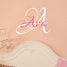 """Wall Decal Decor Monogram Wall Decal - Personalized Initials - College Dorm Room - Monogrammed Vinyl Wall Decal Monogram Letters(custom,18""""tal22""""tall)"""