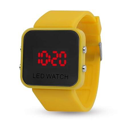 Relojes digitales tiempo maestro números grandes claro fácil leer niños estudiante reloj de pulsera para adolescentes