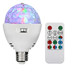 OTTFF 3W E27 Disco Ball Lamp RGB Rotating LED Strobe Party Bulb Stage Light for Family Party,Birthday,Festival,Desk Lamp Decoration,Remote Control