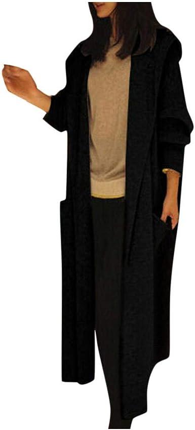 Women/'s Knitted Hooded Cardigan Casual Long Sleeve Loose Sweater Jumper Outwear