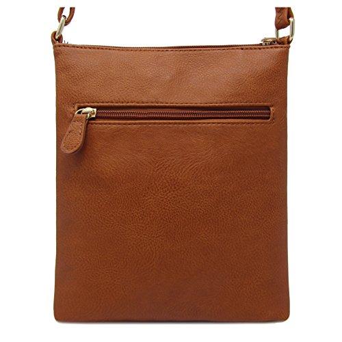 Bag Solene Multi Tan Crossbody Faux Pocket Leather Purse rFw4UpFYq