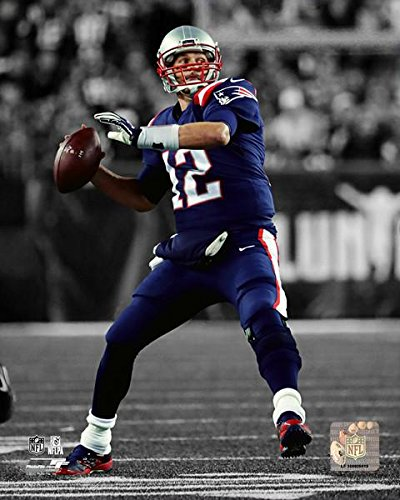 "New England Tom Brady Spotlight 8"" x 10"" Football Photo"