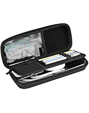 ProCase Hard EVA Stethoscope Case, Shockproof EVA Travel Carrying Case Storage Bag for 3M Littmann / Omron / ADC / Dixie EMS Stethoscope, with Extra Mesh Pockets for Small Accessories [Device NOT Included] -Black
