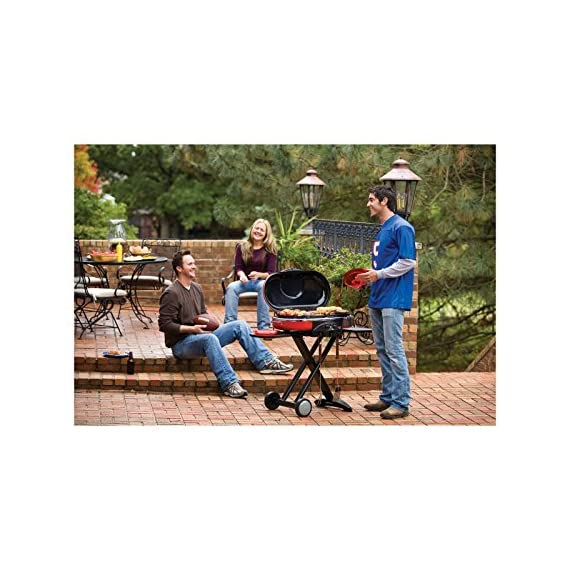 Coleman Propane Grill | RoadTrip LXE Portable Gas Grill 6 Perfect Flow Pressure Control System for steady heat, even in the cold Portable grill sets up in seconds East to transport, folds to compact size with large handle and wheels for easy pulling