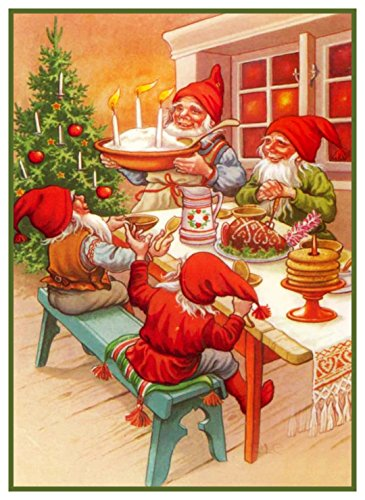 Orenco Originals Elves Christmas Meal Jenny Nystrom Christmas Counted Cross Stitch ()