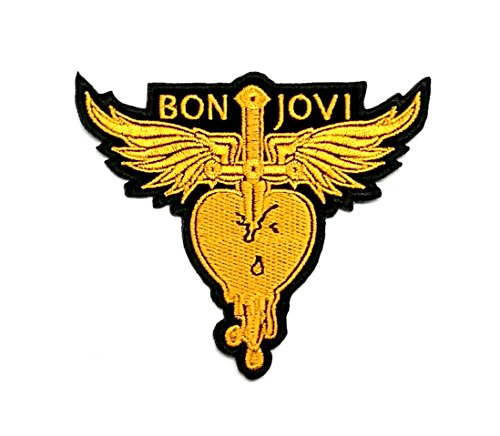 Wasuphand Bon Jovi Forever Heart‡ Rock Band Patch Sew On Iron Embroidered Heavy Metal Music DIY Bag Vest Gift Jeans Denim Badge Costume (Bon Jovi Patch)