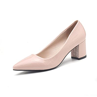 Simple Marché Femme Talon Escarpin Carré Sexy Chaussure Tissu Vernis b7ygmYvIf6