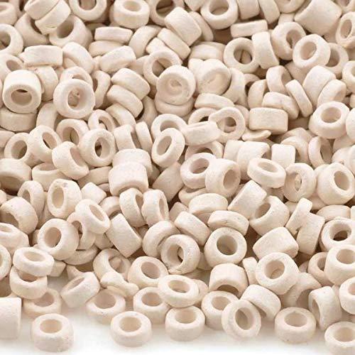 Ceramic Tube Beads - Ceramic Beads-3mm Tube-White-5 Grams