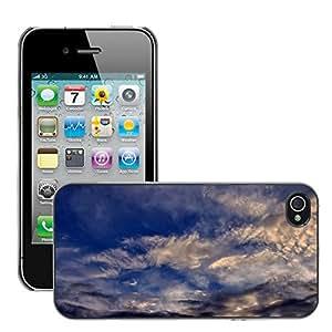 Print Motif Coque de protection Case Cover // M00289923 Con nubes de luz de la nube del cielo // Apple iPhone 4 4S 4G