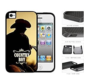 Country Boy Cowboy Riding Horse For HTC One M9 Case Cover (2-piece) Dual Layer High Impact Cell Phone Case