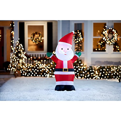 Holiday Living 4-ft x 2.36-ft Lighted Santa Christmas Inflatable