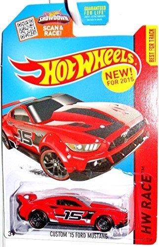 (Hot Wheels, 2015 HW Race, Custom '15 Ford Mustang [Red] 154/250 )
