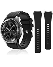 S3 Frontier Band Compatible with Samsung Galaxy Watch 46mm Bands / Gear S3 Frontier Classic Watch Bands, Galaxy Watch 3 Bands 45mm, 22mm Sport Silicone Replacement Bands for Men & Women